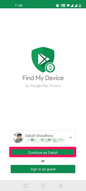 tracking lost phone with gmail account