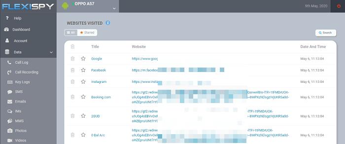 web activities flexispy